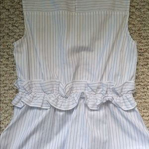 After Market Tops - Pinstripe top- with Ruffle